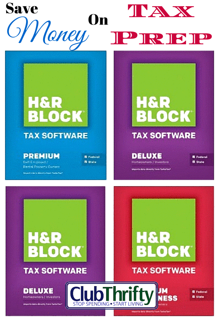 Taxes: Save Money By Using H&r Block Software