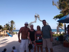 Us with our BFFs in Mexico.....