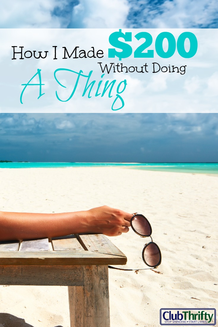 How I Made $200 This Week for Doing Nothing | Club Thrifty