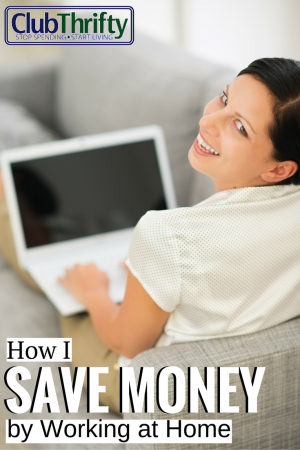 Yes, I definitely save money by working at home. Read this post for the juicy details.