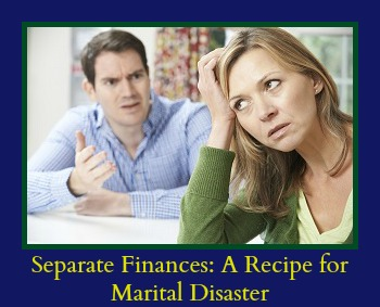 Although keeping separate finances as a married couple may be trendy, we think it is an awful idea. In fact, it may be a disaster waiting to happen.