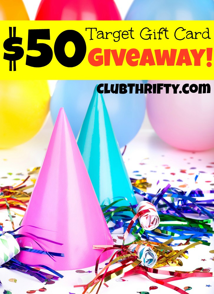 HOLLA! It is GIVEAWAY time at Club Thrifty! Gain entries to our $50 Target Gift Card Giveaway by visiting the website and sharing it daily until 4/27!