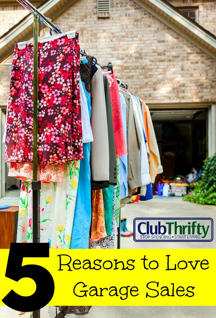 The grass is green. The birds are chirping. Garage sale season is finally here. Here are five of my favorite reasons to love garage sales!