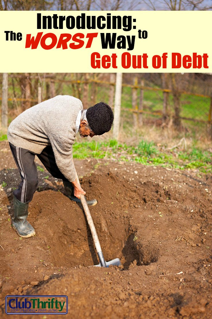 I get a lot of junk in my mailbox, but this has to be one of the worst. BEHOLD: The WORST Way to Get Out of Debt! Seriously...don't do this.