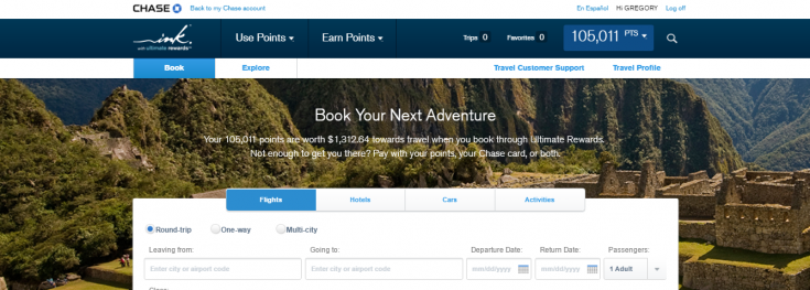 chase travel portal