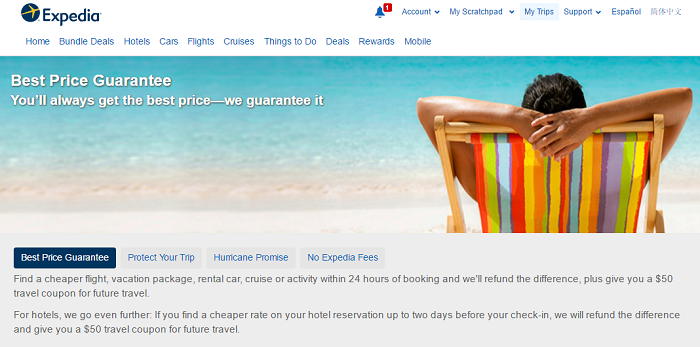 Expedia Gurantee Screen Shot