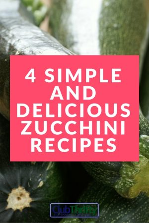 Love these simple and cheap zucchini recipes! Can't wait to try the zucchini bread. Yummy!