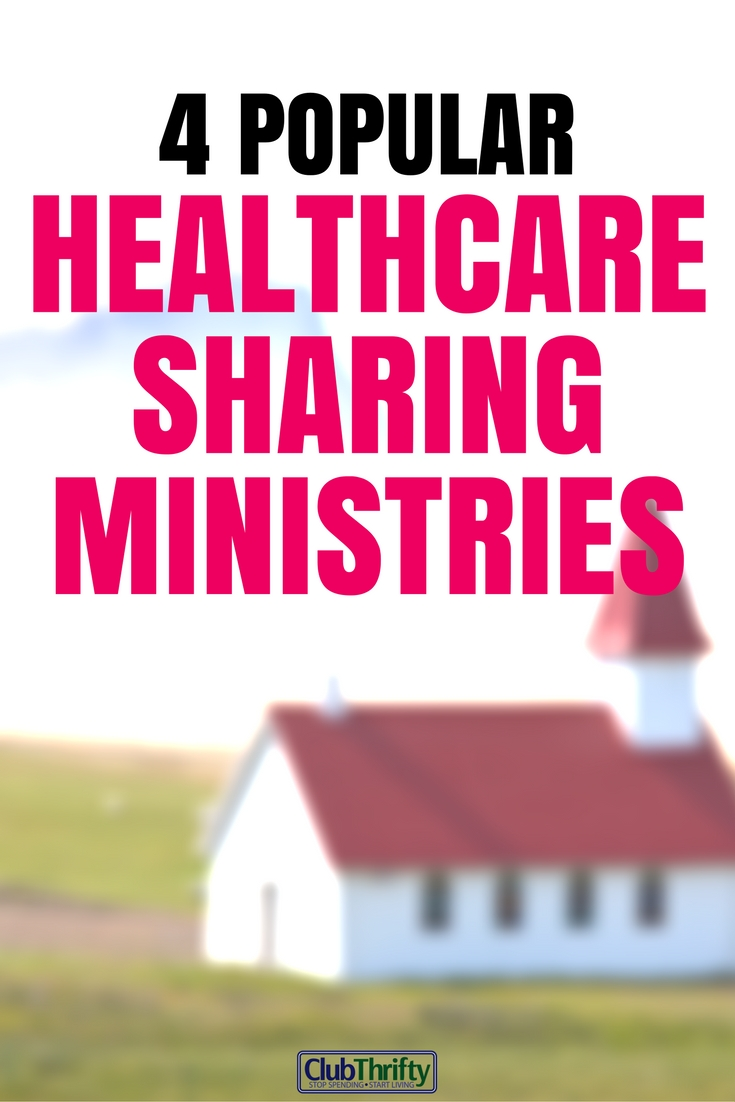 Comparing 4 Healthcare Sharing Ministries Club Thrifty