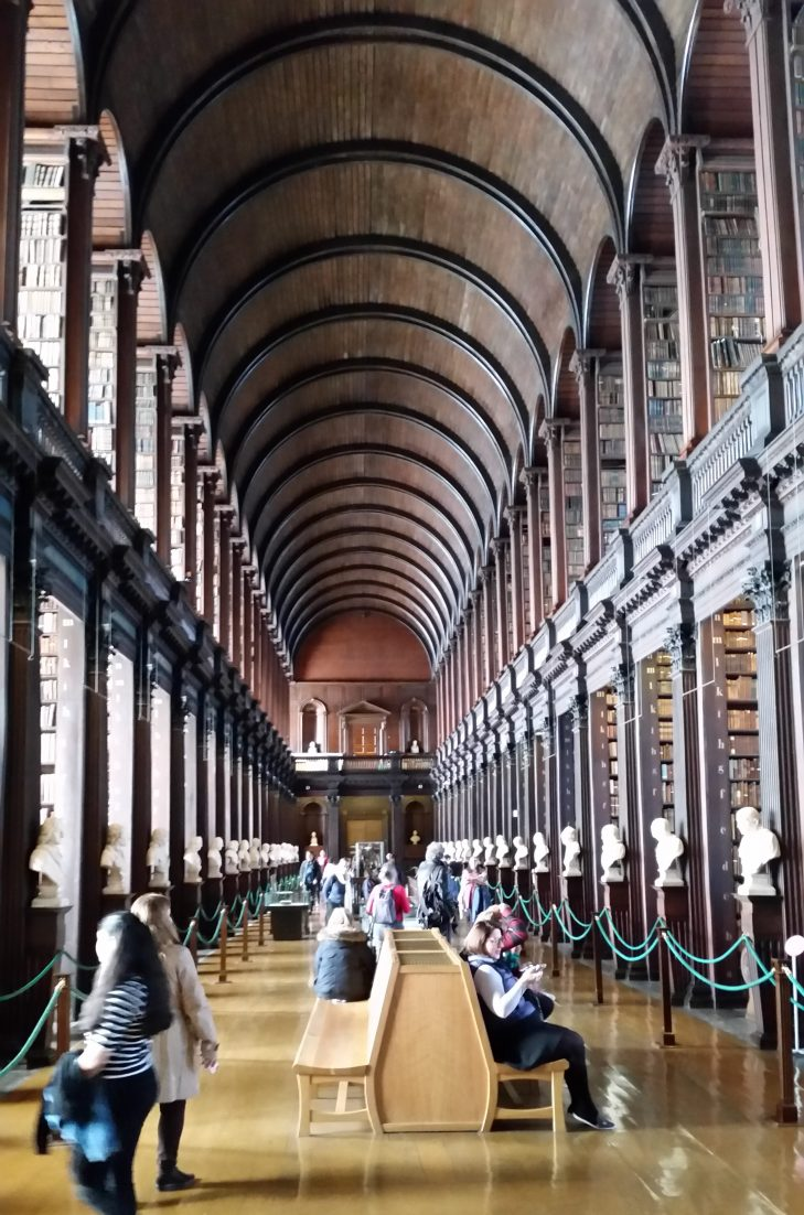 Traveling to Dublin for St. Patrick's Day has always been a dream of mine. Here's a review of our trip, complete with plenty of pictures! The Long Room at Trinity College Library