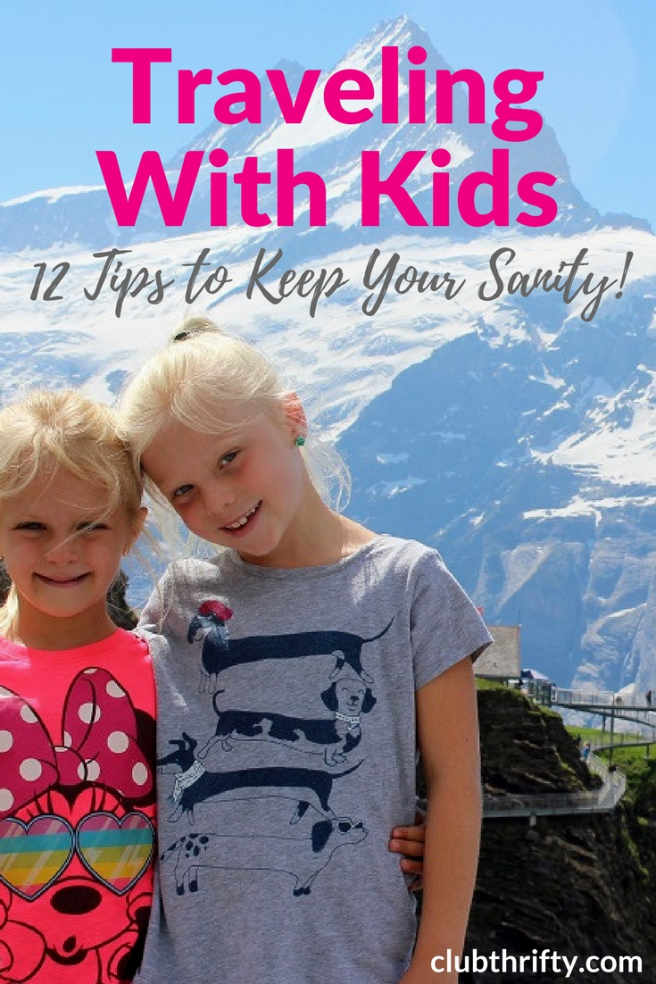 Extended travel with kids is not for the meek of heart! Here are 12 things we've learned that help us stay sane when traveling with our young children.