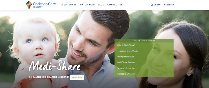 Medishare review - medishare homepage