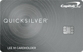 image of capital one quicksilver cash rewards credit card