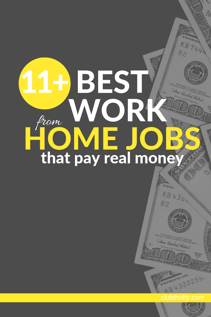 11 Legitimate Work-from-Home Jobs for 2019 | Club Thrifty