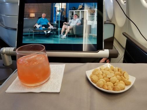 Hawaiian Air First Class review - dining