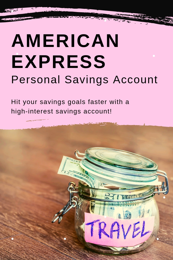 American Express Personal Savings Account - picture of money in baby jar