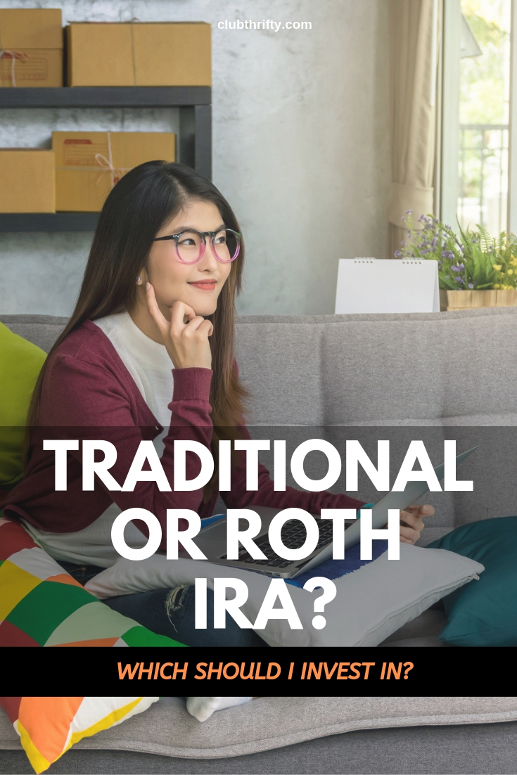 Traditional or Roth IRA - youg woman on couch with laptop