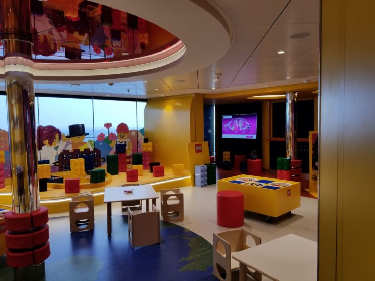 MSC Bellissima kids club room with legos