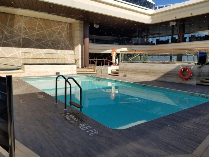 indoor pool on cruise ship