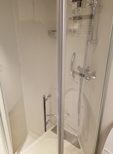 photo of shower MSC Bellissima cruise cabin