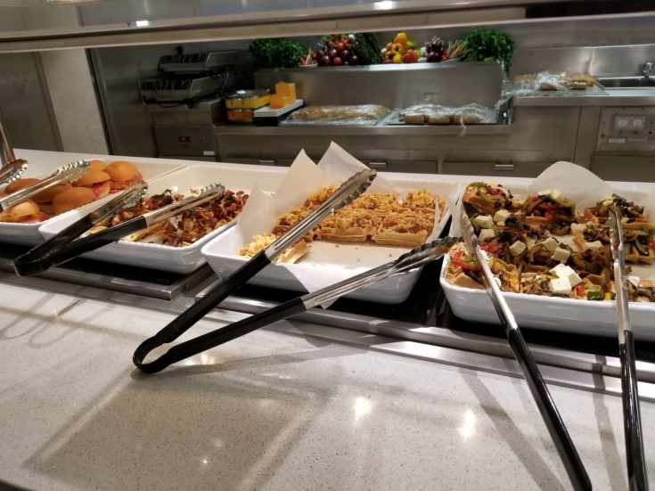 buffet style food