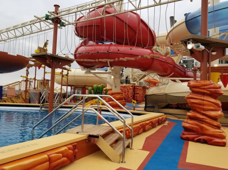 MSC Bellissima water park and water slides