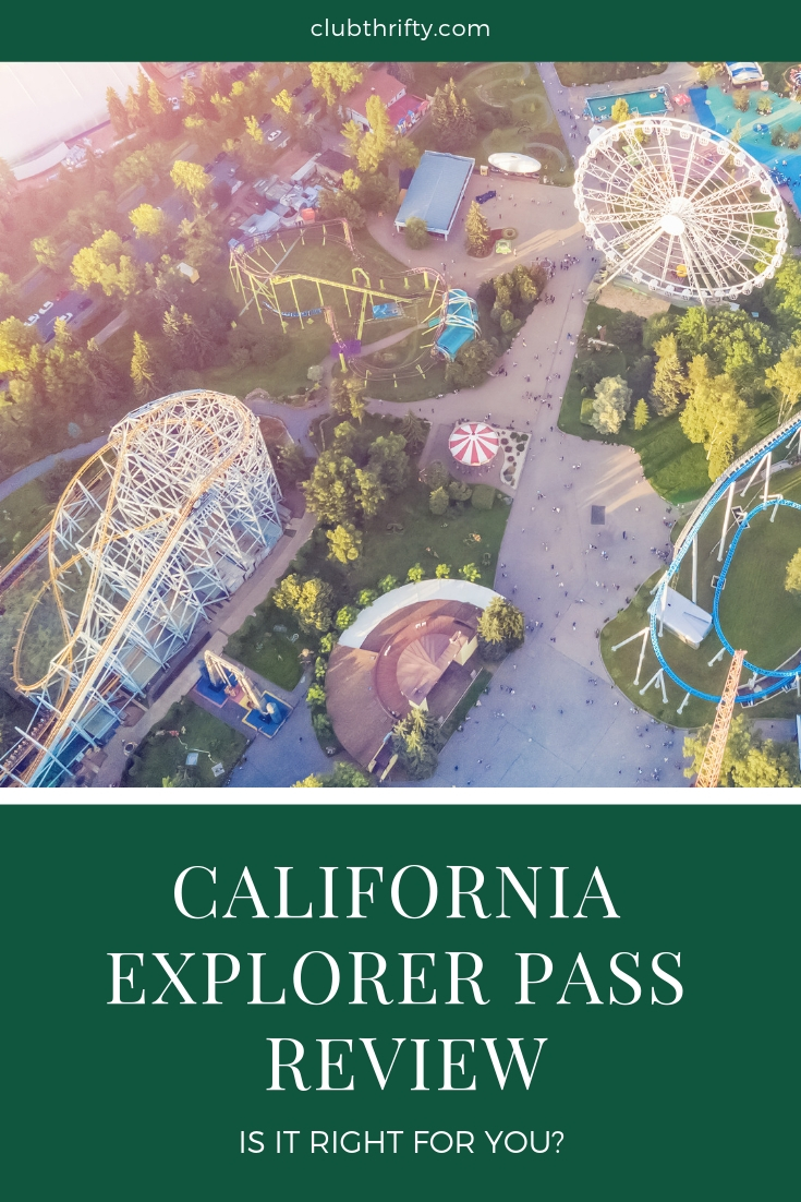 California Explorer Pass Review - picture of theme park