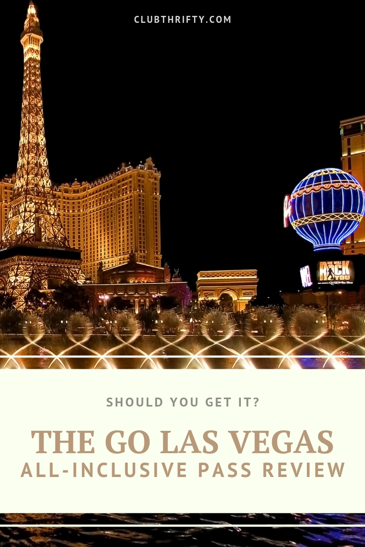 Go Las Vegas Pass Review Pin - picture of Las Vegas Strip at night