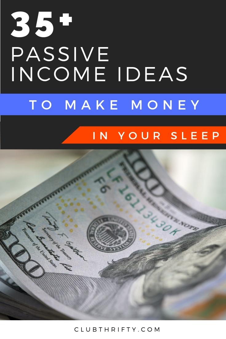 Passive Income Ideas Pin - picture of hundred dollar bill