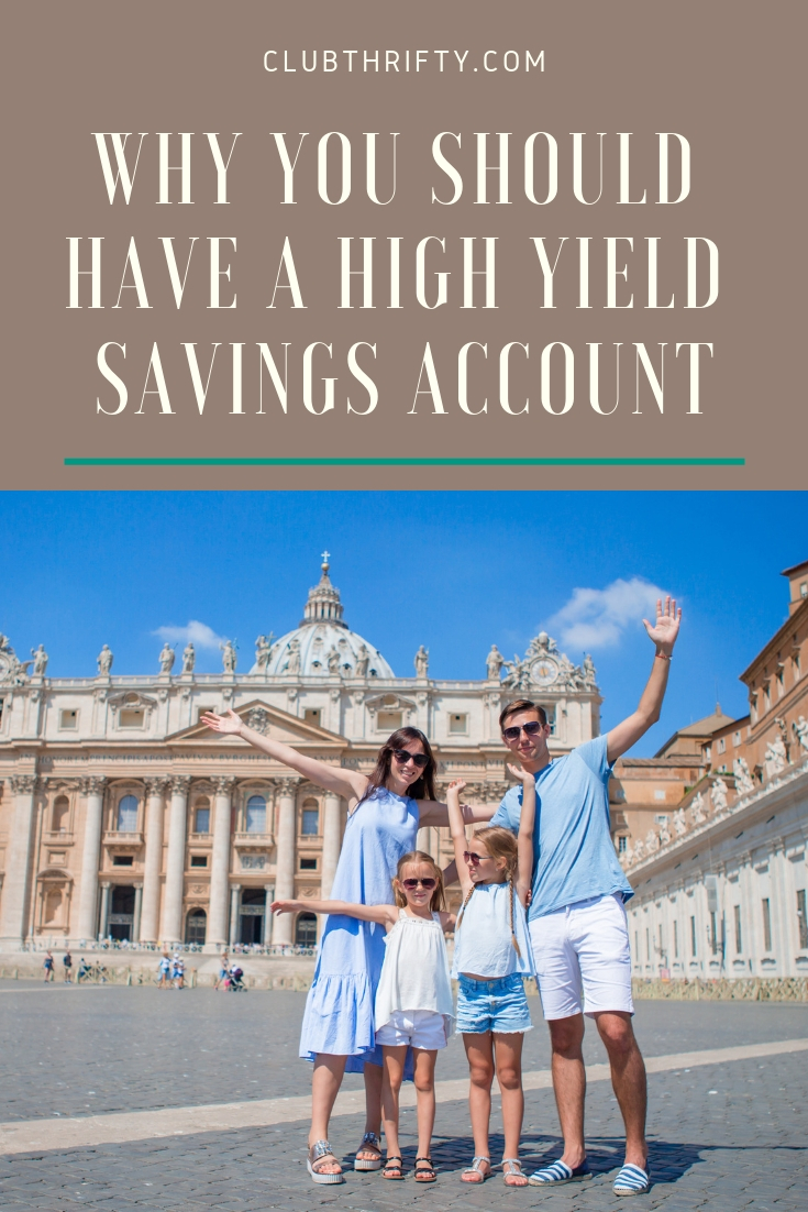 Reasons to Use a High Yield Savings Account - picture of happy family on vacation