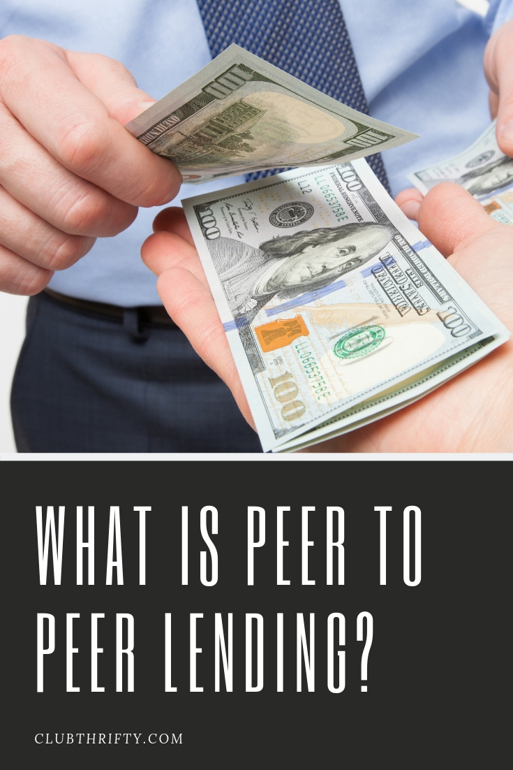 What is peer to peer lending - picture of cash changing hands pin