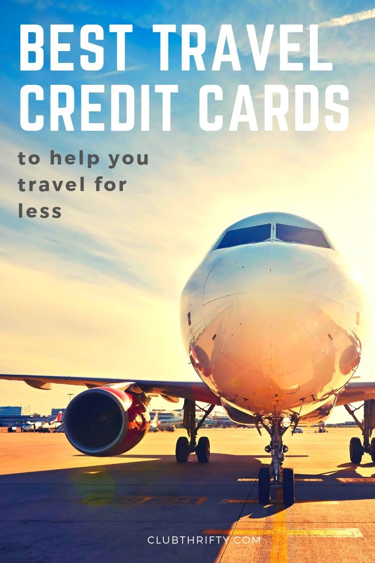 Best Travel Credit Cards Pin - picture of airplane on runway