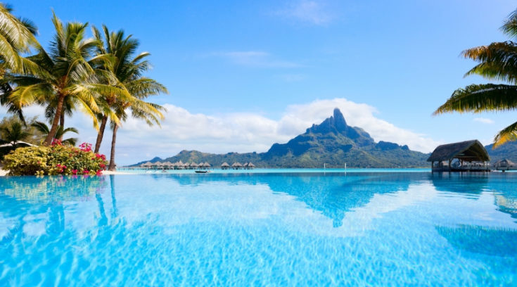 best travel credit cards - image of Bora Bora