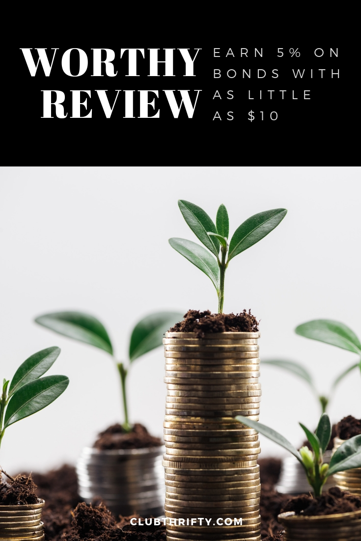 Worthy Review Pin - picture of seedlings in dirt on stack of coins