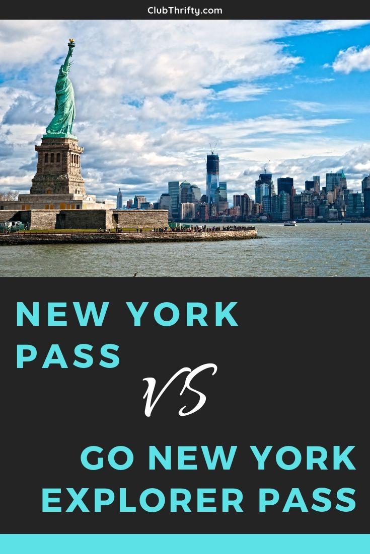 New York Pass vs Go NY Explorer Pass Pin - picture of New York City