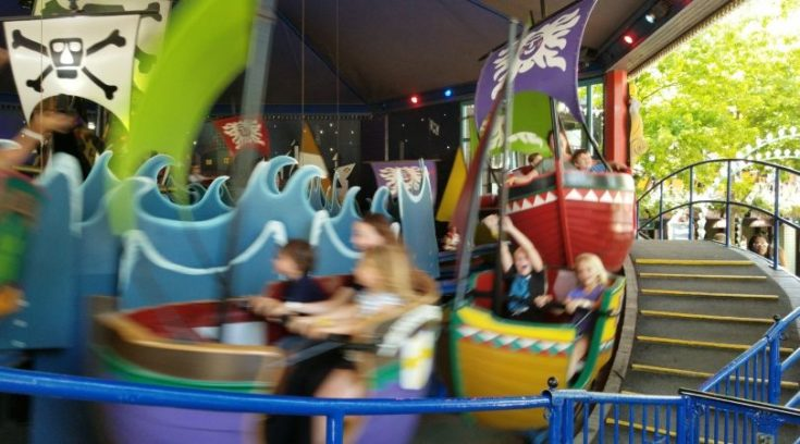 Photo of kids on ride at Tivoli Gardens
