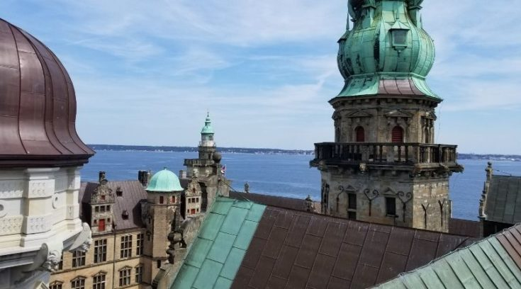 Photo from roof of Kronborg Castle, Denmark