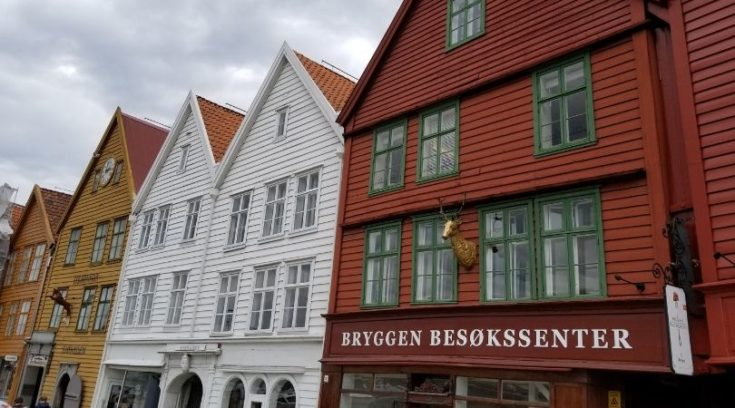 Photo of Bergen, Norway - wooden buildings