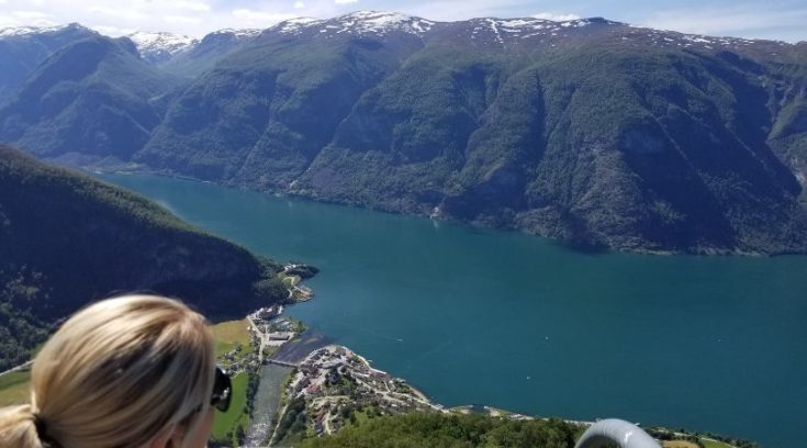 Photo from Stegastein Viewpoint of fjords below