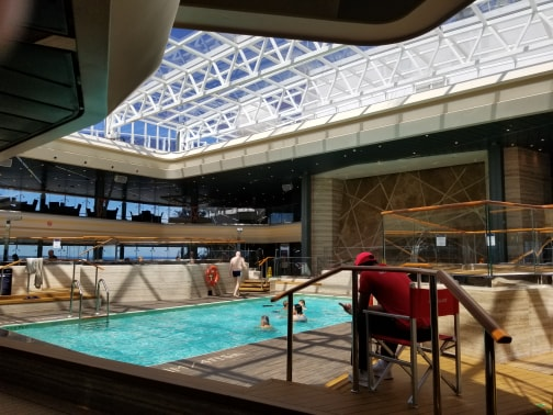 photo of indoor pool on MSC Meraviglia