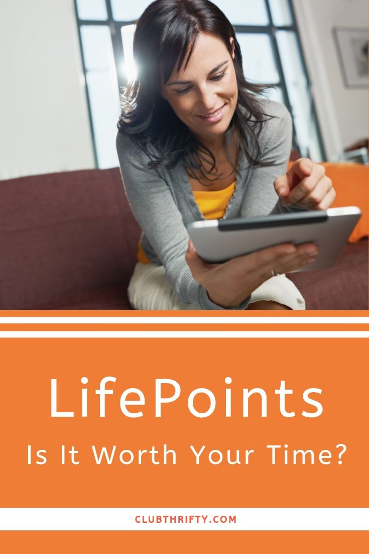 LifePoints Pin - picture of woman on tablet
