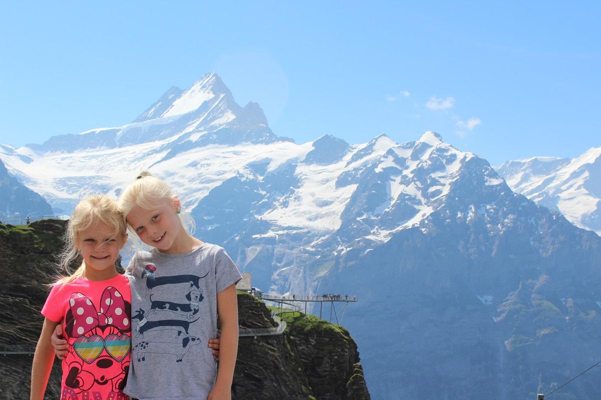 photo of daughters in Switzerland